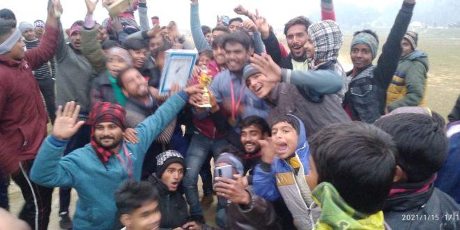 अड्डा बाजार :- बैजनाथपुर उर्फ़ चरका ने भैसहीयां को फाइनल में हराकर प्रथम स्थान प्राप्त किया
